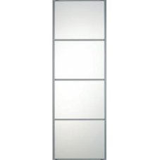 "SILVER FRAME MIRROR SLIDING WARDROBE DOOR 4 PANEL 762mm (30"")"